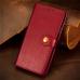 Capa de Couro para Motorola Edge Vermelho
