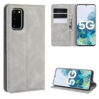 Capa Samsung Galaxy S20 FE de Couro Cinza