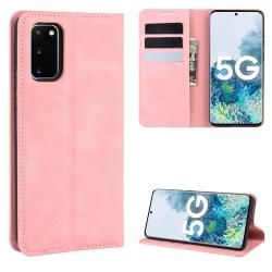 Capa Samsung Galaxy S20 FE de Couro Rosa