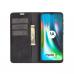 Capa Flip Couro para Motorola Moto G9 Play Preto