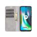 Capa Flip Couro para Motorola Moto G9 Play Cinza