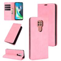 Capa Flip Couro para Motorola Moto G9 Play Rosa