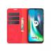 Capa Flip Couro para Motorola Moto G9 Play Vermelho