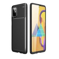 Capa Galaxy M51 TPU Fibra de Carbono Preto