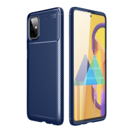 Capa Galaxy M51 TPU Fibra de Carbono Azul
