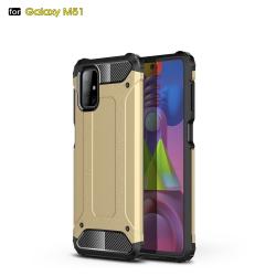 Capa Galaxy M51 Antichoque Dourado