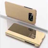 Capa Xiaomi Poco X3 Pro Flip Espelhado Dourado