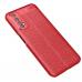 Capa Realme 7 TPU Textura Litchi Vermelho