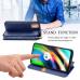 Capa Moto G9 Plus Flip PU Azul