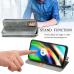 Capa Moto G9 Plus Flip PU Cinza