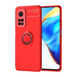 Capa Xiaomi Mi 10T / Mi 10T Pro com Anel de Suporte Vermelho