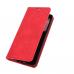 Capa Motorola Edge Flip Couro Vermelho