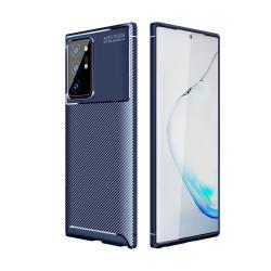 Capa Galaxy S21 Ultra TPU Fibra de Carbono Azul