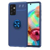 Capa Galaxy A72 TPU com Anel de Suporte Azul