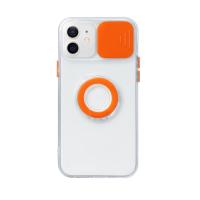 Capa com Protetor de Câmera para iPhone 13 Pro Max Laranja