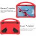 Capa Infantil para Samsung Galaxy Tab S7 FE Vermelho