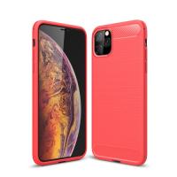 Capa Iphone 11 Pro Max TPU Fibra de Carbono Vermelho