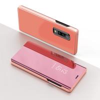 Capa Samsung A30s Flip Clear View Rosa
