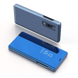 Capa Samsung A30s Flip Clear View Azul