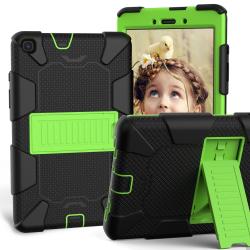 Capa Samsung Tab A 8.0 2019 T290/T295 Antichoque Preto-Verde