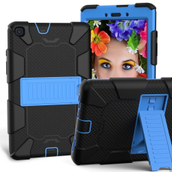 Capa Samsung Tab A 8.0 2019 T290/T295 Antichoque Preto-Azul
