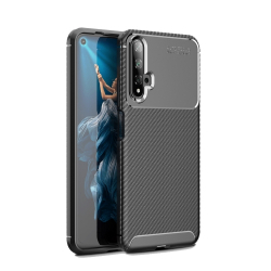 Capa Huawei Nova 5T TPU Fibra de Carbono Preto