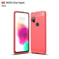 Capa para Motorola One Hyper TPU Fibra de Carbono Vermelho