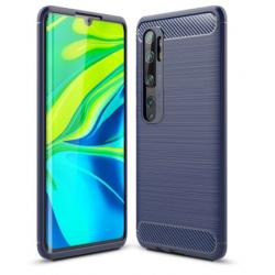 Capa Xiaomi Mi Note 10 / Mi Note 10 Pro TPU Fibra de Carbono Azul