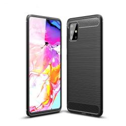 Capa Galaxy A51 TPU Fibra de Carbono Preto