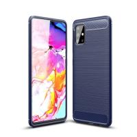 Capa Galaxy A51 TPU Fibra de Carbono Azul