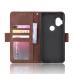Capa de Couro Motorola One Hyper Marrom