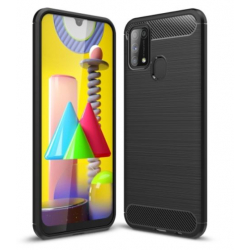 Capa Samsung Galaxy M31 TPU Fibra de Carbono Preto