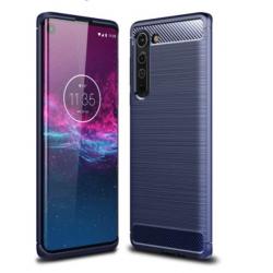 Capa Motorola Edge TPU Fibra de Carbono Azul