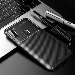 Capa Samsung A11 TPU Fibra de Carbono Preto