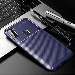 Capa Samsung A11 TPU Fibra de Carbono Azul
