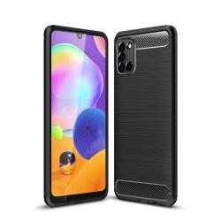 Capa Samsung Galaxy A31 TPU Fibra de Carbono Preto