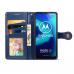 Capinha Moto G8 Power Lite de Couro Azul