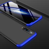 Capa Xiaomi Mi 9 Cobertura Completa das Bordas Preto-Azul