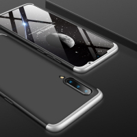 Capa Xiaomi Mi 9 Cobertura Completa das Bordas Preto-Prata
