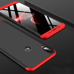 Capa Zenfone Max Pro M1 Cobertura Completa - Vermelho e Preto