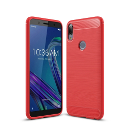 Capa Zenfone Max Pro M1 Fibra de Carbono - Vermelho