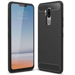 Capa LG G7 Thinq TPU Fibra de Carbono Preto