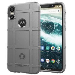 Capa Motorola One Shield - Cinza