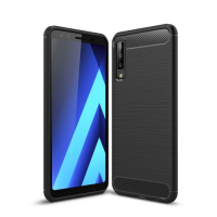 Capa Samsung Galaxy A7 2018 Fibra de Carbono - Preto