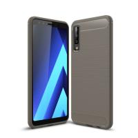 Capa Samsung Galaxy A7 2018 Fibra de Carbono - Cinza