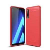 Capa Samsung Galaxy A7 2018 Fibra de Carbono - Vermelho