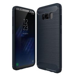 Capa Galaxy S8 Textura Fibra de Carbono Azul Escuro