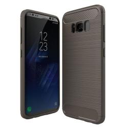 Capa Galaxy S8 Textura Fibra de Carbono Cinza